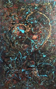 Love Dance, 210x145 cm, oil paint on canvas, 2008