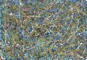 Cosmic Forest, 208x144 cm, oil on canvas, 2008