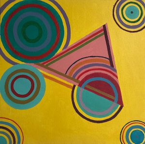 Vib 1, 30x30 cm, oil on canvas, 2019
